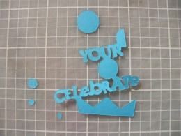 Phrase cut out (duplicate but different color)