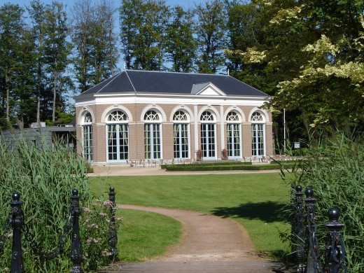 A typical orangery. This one is on the grounds of Ruulo Castle in the Netherlands