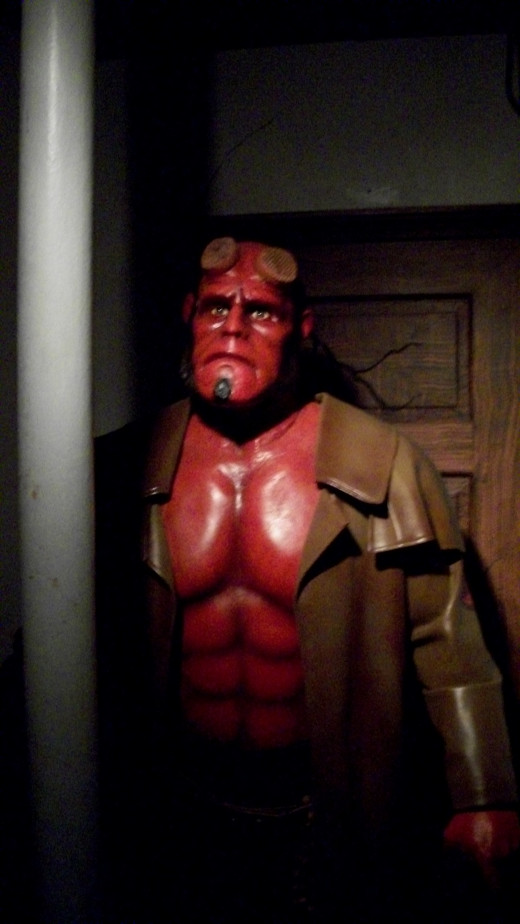 Hellboy from the Hollywood Wax Museum