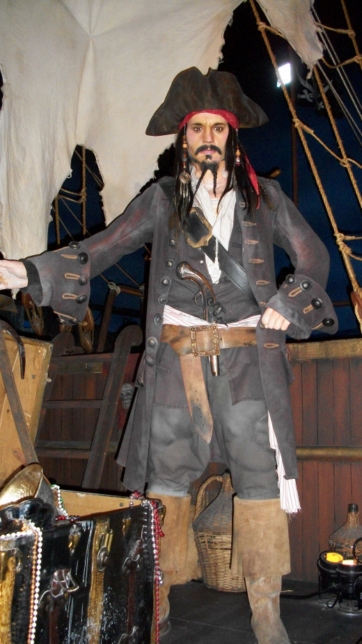 Captain Jack Sparrow from the Hollywood Wax Museum