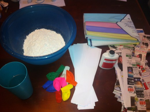 If you are pressed on time and only have one snow day or rainy Saturday or Sunday a box can be substituted. As long as you cover the entire piñata in white paper before decorating. I once used a cereal box and juice box and taped them together