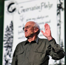 Stewart Brand speaking at TED conference, 2013