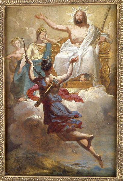 Diane devant Jupiter by Merry-Joseph Blondel