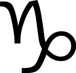 Capricorn glyph/symbol