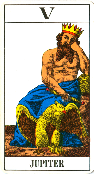Jupiter Tarot card by Johann Georg Rauch
