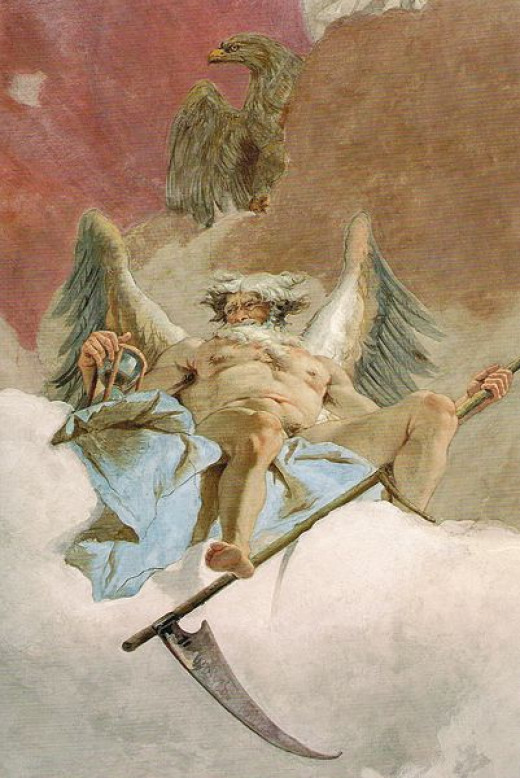 A painting of Saturn by Giovanni Battista Tiepolo