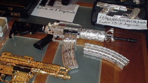 'Blinged' Guns Of The Drug Cartels