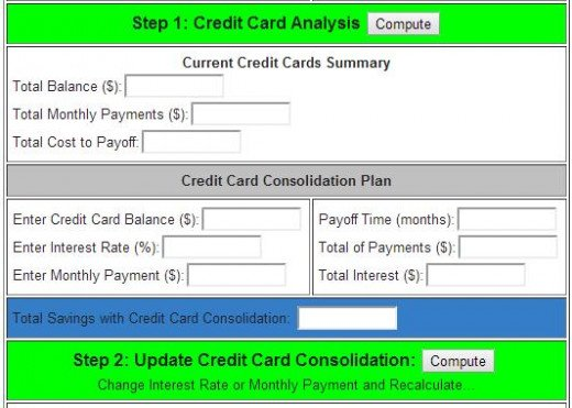 Credit Card Consolidation Calculator- How Much Can You Save?