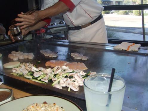 Vegetables seafood or steak Season Well.