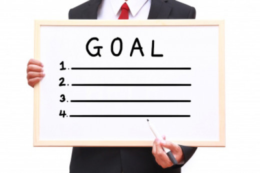 Set some achievable goals to help you stay focused