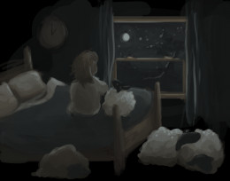 """when the sheep sleep"" by cerulean kitsune on DeviantArt.com"