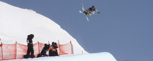 At the New Zealand Winter Games, August 2008