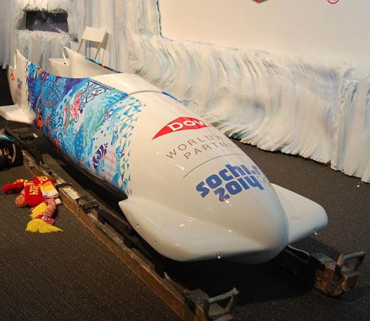 A beautiful, Sochi bobsleigh.