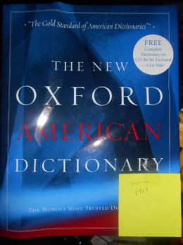 Oxford Dictionary with sticky note