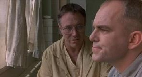 Billy Bob Thornton plays in Sling Blade as a mentally challenged murderer. The film is very emotional and deep.