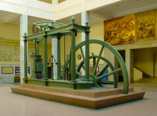 A Replica Of The Watt Steam Engine Which Propelled The Industrial Revolution.