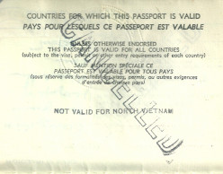 A page in my first passport - as if I would ever want to go to North Vietnam.