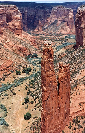 Spider Rock in Canyon de Chelly