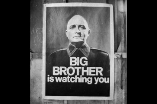 A poster from 1984 - a story from George Orwell where the original term 'Big Brother is watching you' came from. Is this our society now?