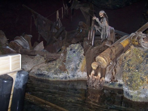 Sunken Ship in Pirates of the Caribbean
