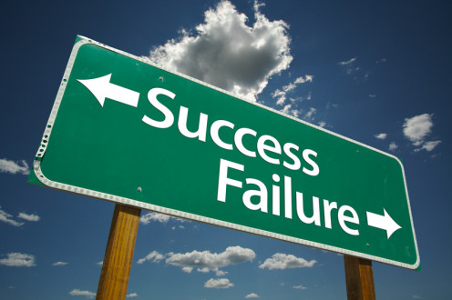 Success and Failure Sign.