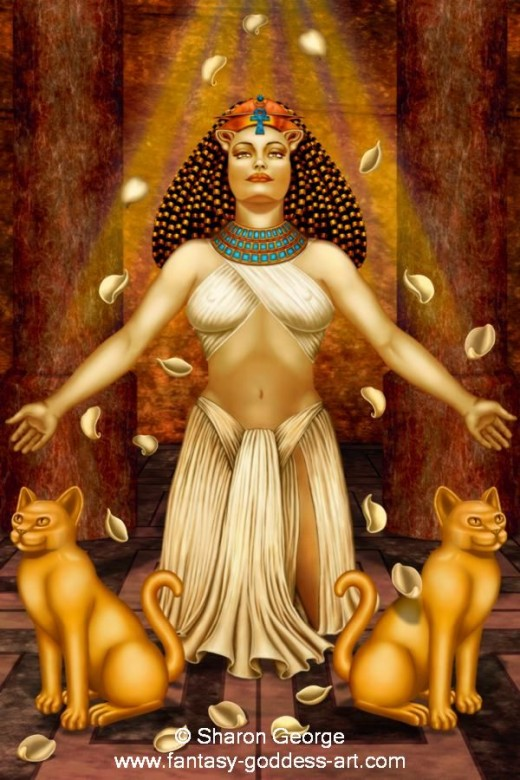 The Egyptian Goddess Bast.