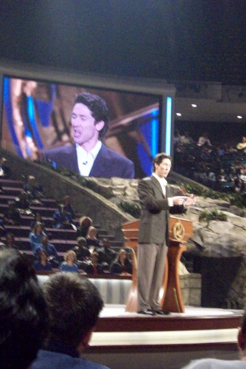 Joel Osteen at Lakewood Church, Houston, Texas.