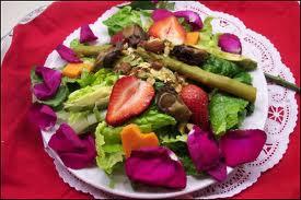 Strawberry, asparagus, nuts, avocado
