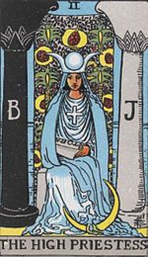 "The most common Tarot card for ""The High Priestess."""