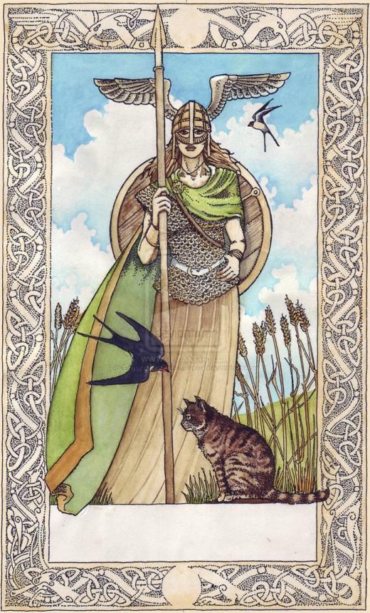 The Norse Viking Goddess Freya.