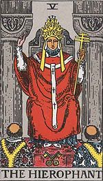 """The most common Tarot card for """"The High Priest."""""""