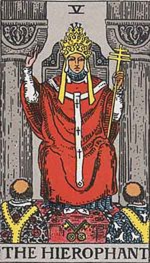 "The most common Tarot card for ""The High Priest."""