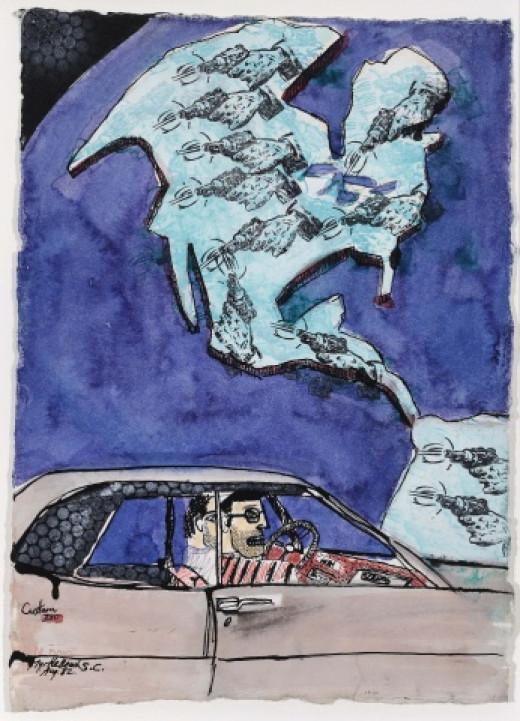 "Peter Doig's  ""Just Passin Thru"""