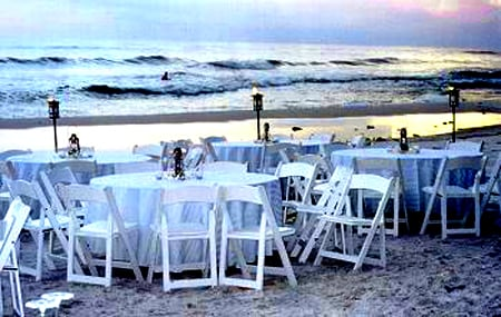 A beach reception
