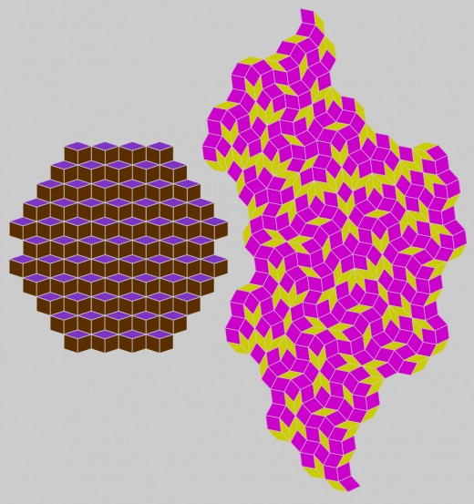 These rhombic tilings are not Penrose tilings.