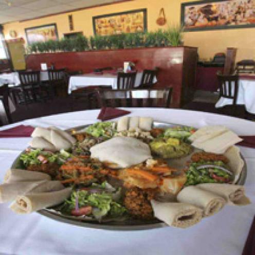 Queen of Sheba's classic Ethiopian platter