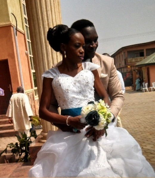 This wedding of my sister took place in Lagos, Nigeria.