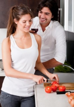 Bond over a simple yet romantic meal at home.