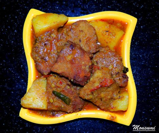 Dhokar Dalna....Lentil Cake Curry Recipe