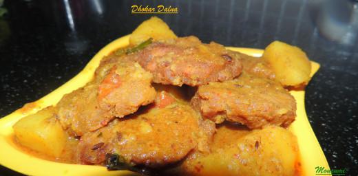 Lentil Cake Curry