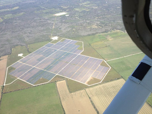 Webberville Solar Farm Near Austin Texas from the Air
