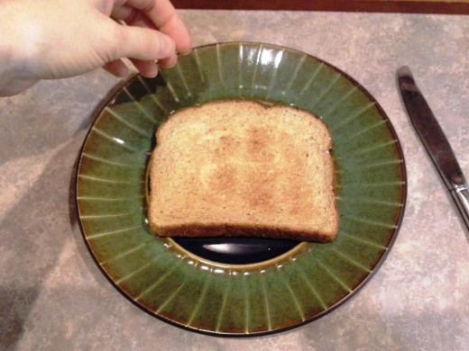 Step Thirteen: Remove your toast from the toaster