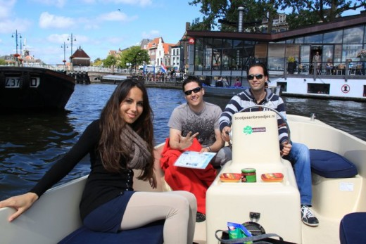 Cruising through the canals of Holland. It was a great way to spend a cool summer day in Leiden!