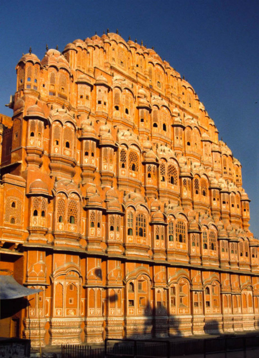 The Hawa Mahal Or The 'Palace Of Winds'.