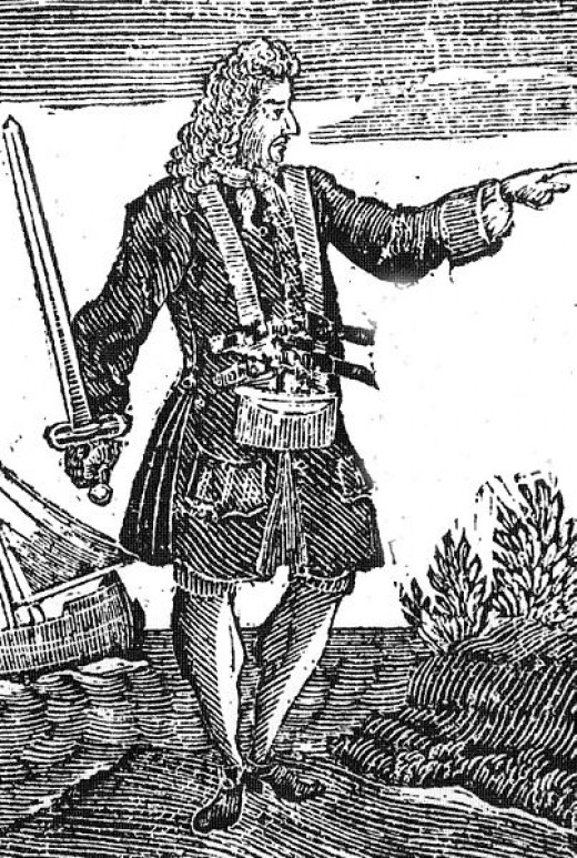Early 18th Century Engraving of Charles Vane