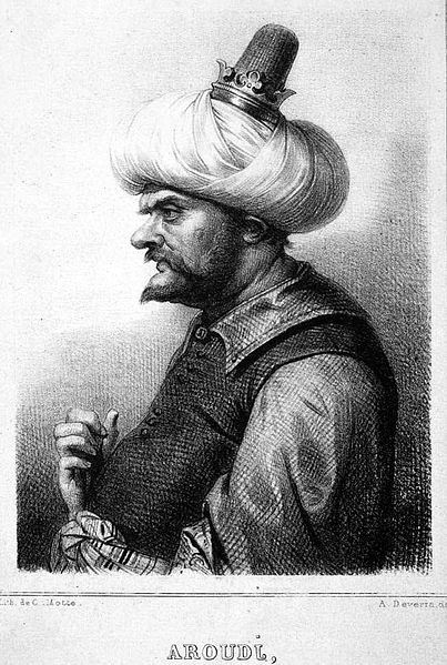 Barbarossa, lithograph by Charles-Etienne Motte, after a drawing by Achille Deveria.