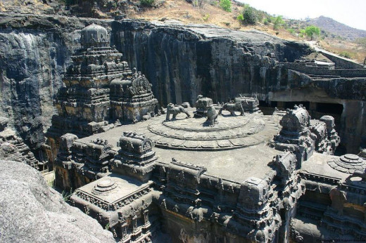 A Rock Structure In The Ellora Caves.