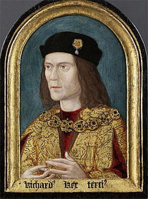 The Tudor portrait of Richard III showing him as a villainous man.