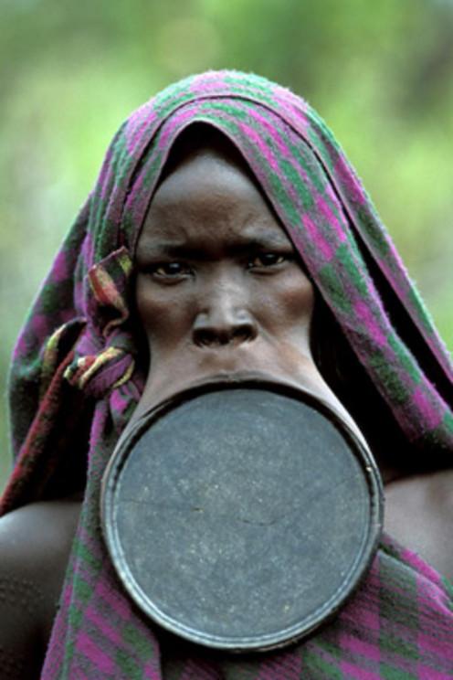 A frightful looking Suma tribes man