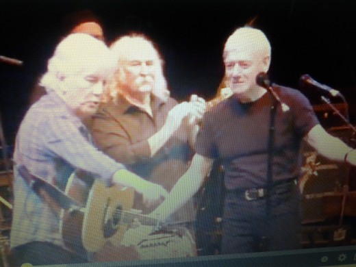 Graham Nash David Crosby Allan Clarke About To Perform Bus Stop At The Albert Hall October 2011